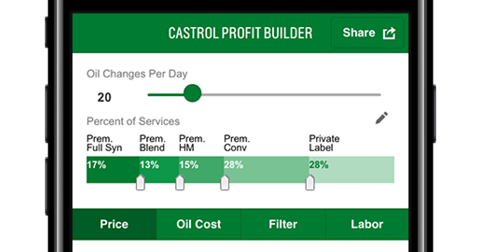 Castrol Advance Professional Calculator